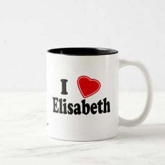 I Love Elisabeth Two-Tone Mug