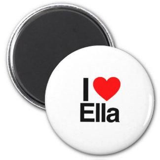 i love ella 6 cm round magnet