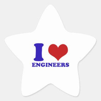 I love engineers design star sticker