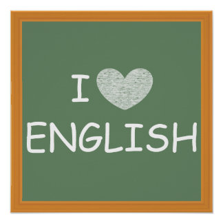 I Love English Poster