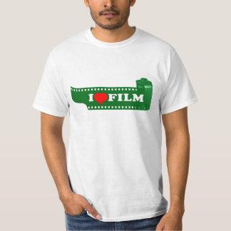 I LOVE FILM - 35mm film design T-shirt