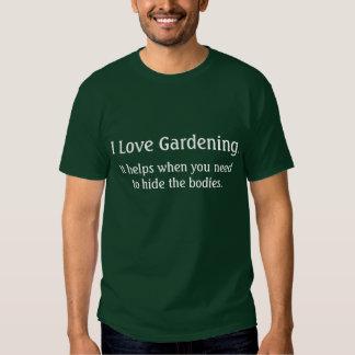 I love gardening tee shirts
