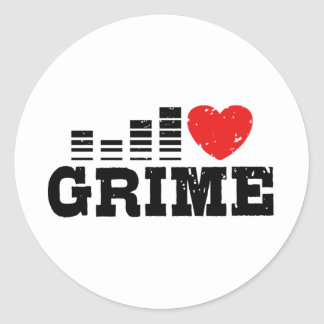 I Love Grime Round Sticker