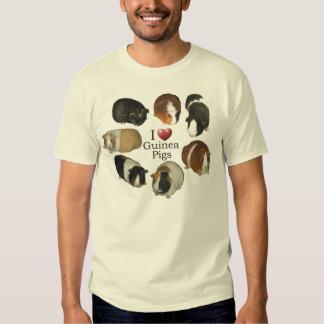 I Love Guinea Pigs - T-Shirt