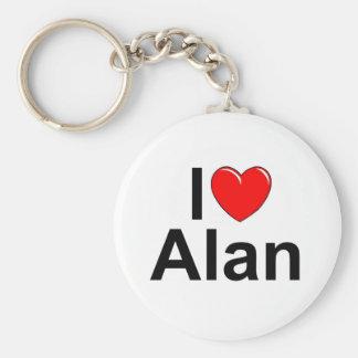 I Love (Heart) Alan Basic Round Button Key Ring