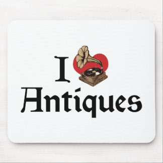 I Love Heart Antiques - Antique Collector Mouse Pad