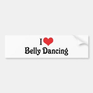 I Love Heart Belly Dancing Bumper Sticker
