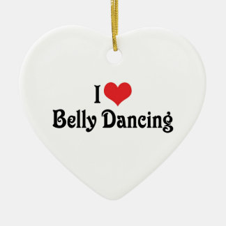 I Love Heart Belly Dancing Ceramic Heart Decoration