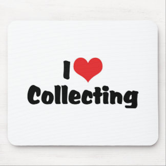 I Love Heart Collecting - Antique Junk Collector Mouse Pad
