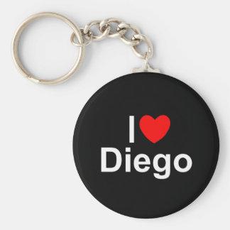 I Love (Heart) Diego Basic Round Button Key Ring