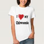 I Love (Heart) My Chiweenie Dog Shirts
