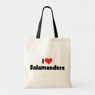 I Love Heart Salamanders Budget Tote Bag