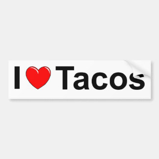 I Love (Heart) Tacos Bumper Sticker