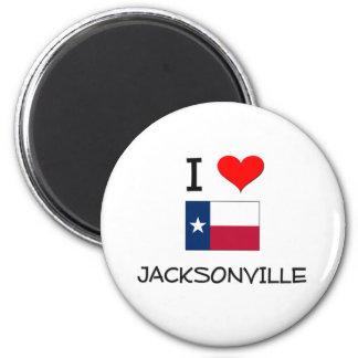 I Love Jacksonville Texas 6 Cm Round Magnet