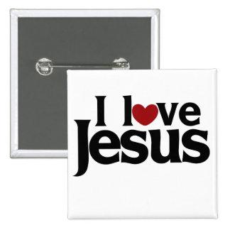 I love Jesus 15 Cm Square Badge
