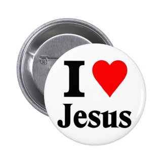 I love Jesus 6 Cm Round Badge