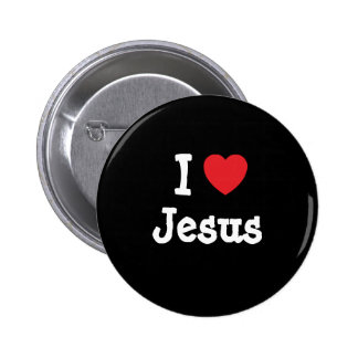 I love Jesus heart custom personalized 6 Cm Round Badge
