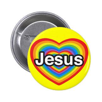 I love Jesus. I love you Jesus. Heart 6 Cm Round Badge