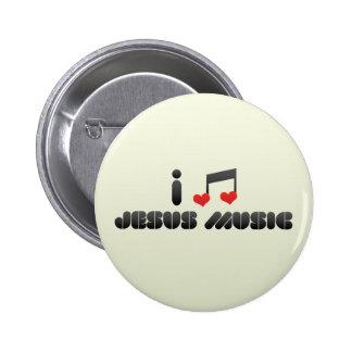 I Love Jesus Music 6 Cm Round Badge