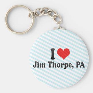 I Love Jim Thorpe, PA Basic Round Button Key Ring