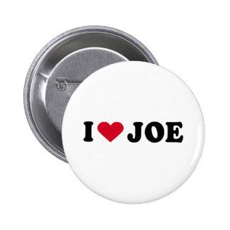 I LOVE JOE 6 CM ROUND BADGE