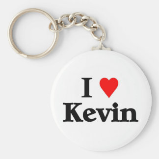 I love kevin basic round button key ring