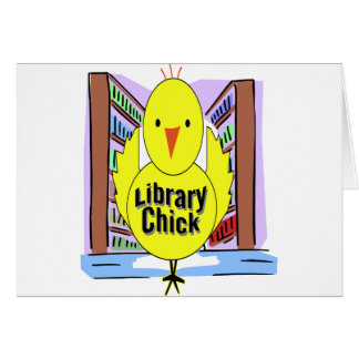 I Love Library Chicks Greeting Card