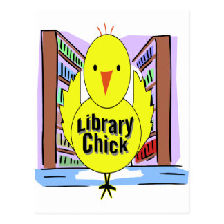 I Love Library Chicks Postcard