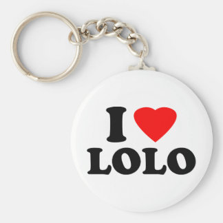 I Love Lolo Basic Round Button Key Ring