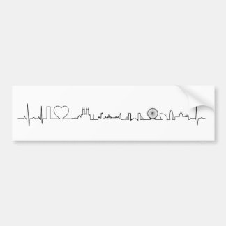 I love London (extraordinary ecg style) souvenir Bumper Sticker