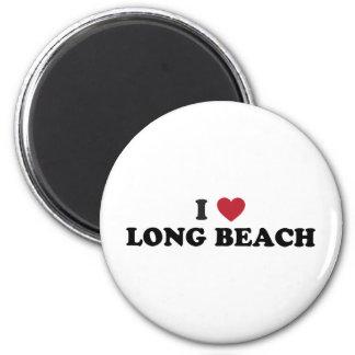 I Love Long Beach California 6 Cm Round Magnet