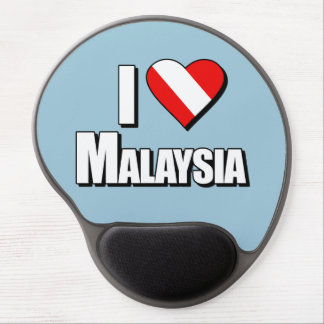 I Love Malaysia Diving Gel Mouse Pad