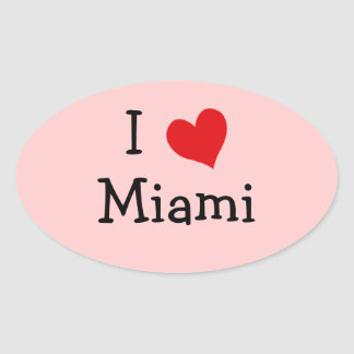 I Love Miami Oval Sticker