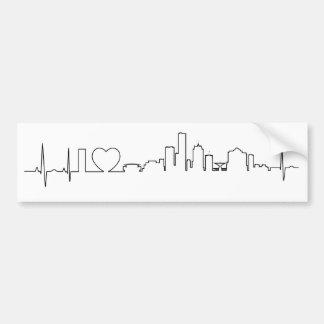 I love Milwaukee in an extraordinary ecg style Bumper Sticker