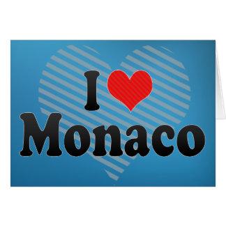 I Love Monaco Greeting Card