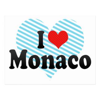 I Love Monaco Postcard