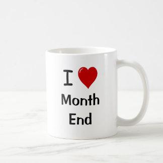 I Love Month End - Reasons Why!! Basic White Mug