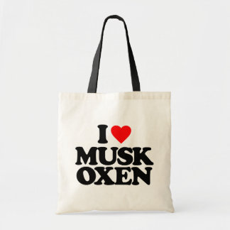 I LOVE MUSK OXEN BUDGET TOTE BAG