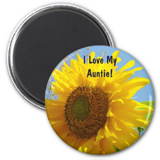 I Love My Auntie! magnets Yellow Sunflowers