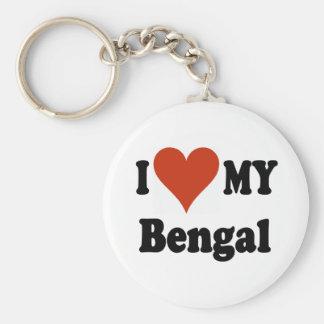I Love My Bengal Cat Merchandise Basic Round Button Key Ring