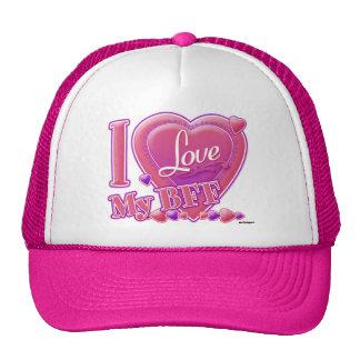 I Love My BFF pink/purple - hearts Cap