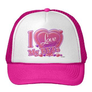 I Love My BFFs pink/purple - hearts Cap
