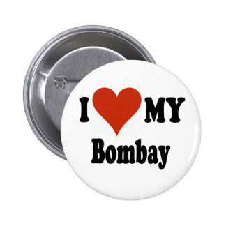 I Love My Bombay Cat Merchandise 6 Cm Round Badge