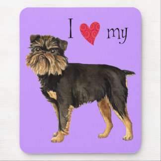 I Love my Brussels Griffon Mouse Pad