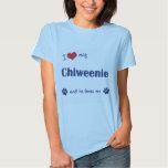 I Love My Chiweenie (Male Dog) Tee Shirts