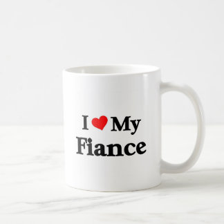 I love my Fiance Basic White Mug