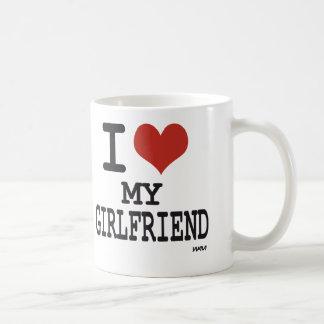 I love my girlfriend basic white mug