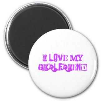 I love my Girlfriend t shirt 6 Cm Round Magnet