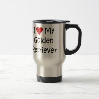 I Love My Golden Retriever Dog Lover Gifts Stainless Steel Travel Mug
