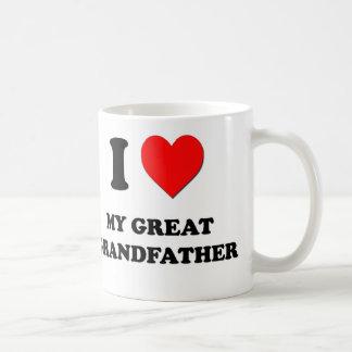 I Love My Great Grandfather Basic White Mug